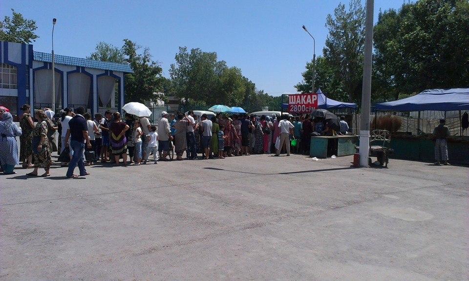 В Ташкенте люди продолжают стоять в очереди за дешевым сахаром (фото)