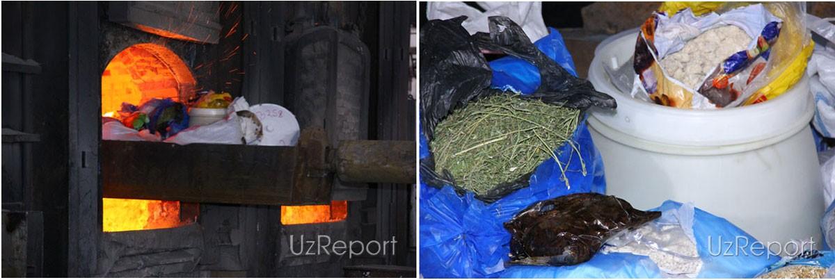 В Узбекистане за 20 лет изъяли и сожгли 52 тонны наркотиков