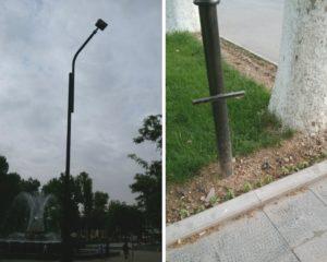Фотофакт: с площади Пушкина исчезли солнечные панели и скамейки