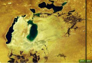 Фото дня: в Арал вернулась вода?