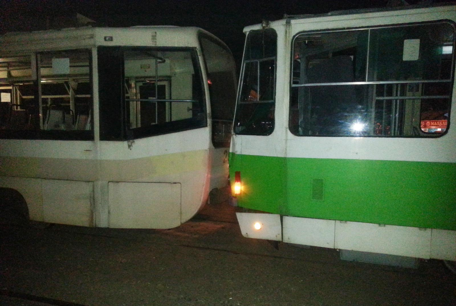 В Ташкенте произошло ДТП с участием трех трамваев (фото)