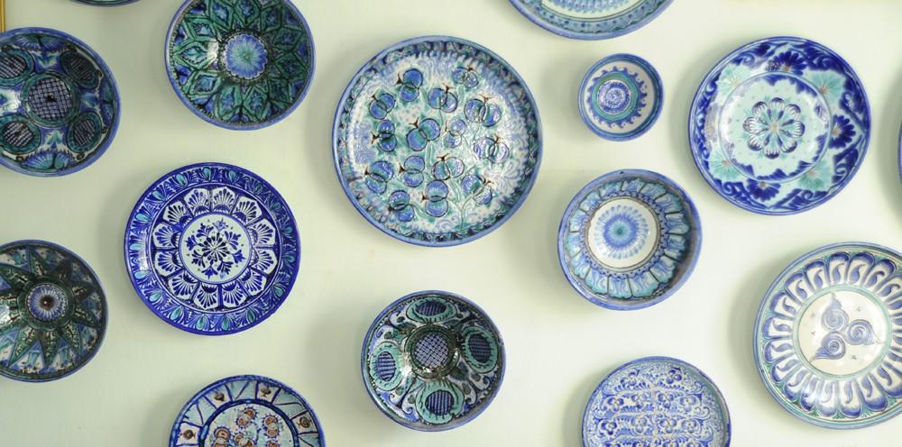 Голубая керамика Риштана (фото)