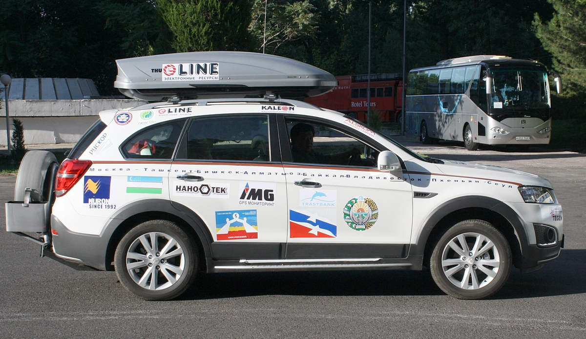 К автопробегу «Россия – Корея» присоединился автомобиль Captiva с узбекистанцами