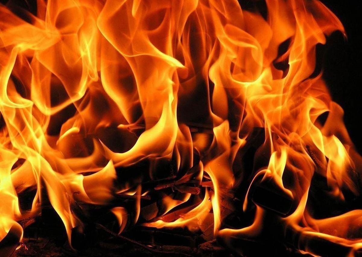 В Ташкентской области пожар