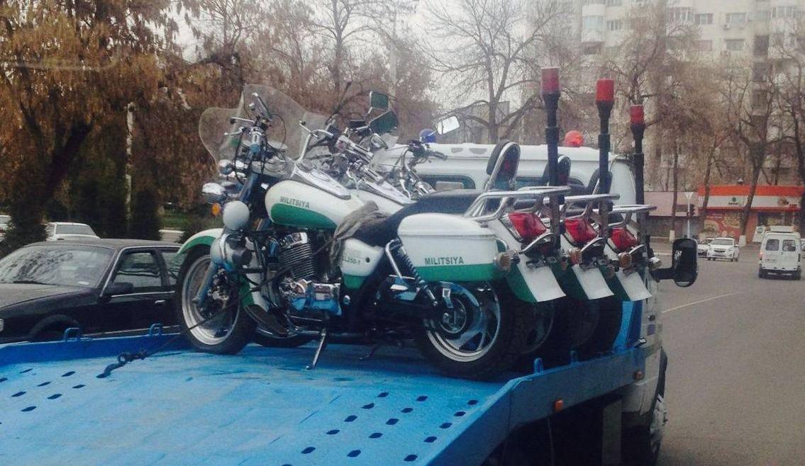 Милиция Ташкента пересаживается на мотоциклы