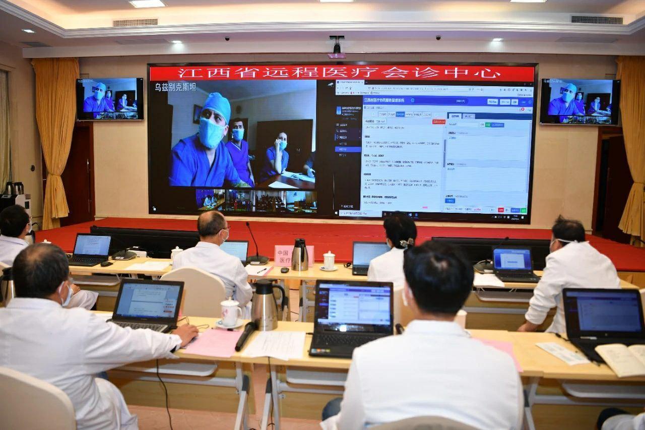 КНР помогает дистанционно лечить больных Covid-19 в Узбекистане