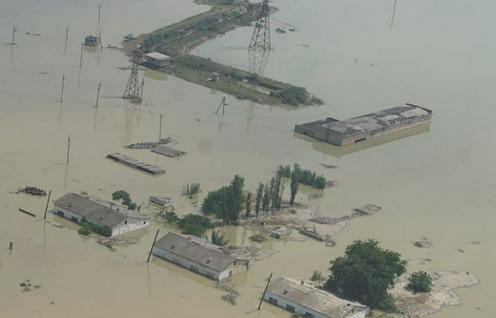 В Казахстане подсчитали ущерб от прорыва дамбы на Сардобинском водохранилище