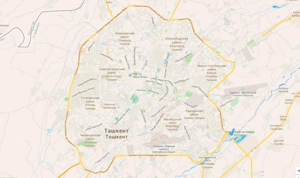 В Ташкенте поменяли названия ряда улиц