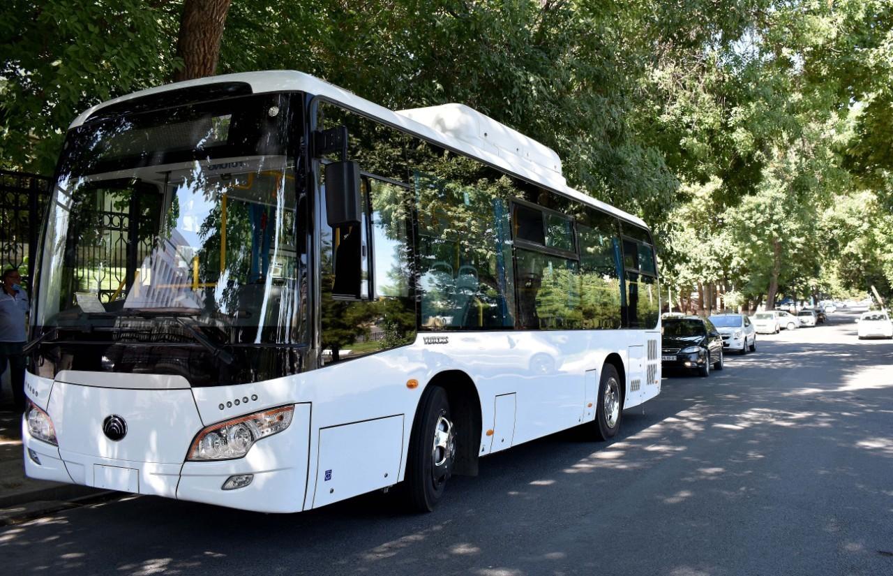 Тошкентда эски Isuzu автобуслари янгиларига алмаштирилади