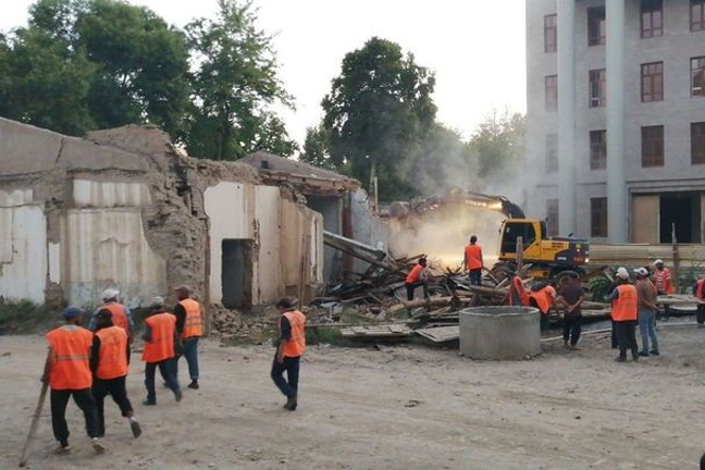 В Самарканде снесли дом в охраняемой зоне ЮНЕСКО