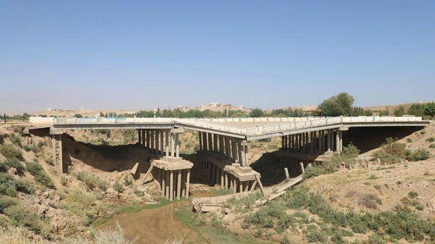 В Сурхандарьинской области обрушился мост стоимостью 6