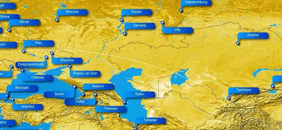 От запрета украинским авиалиниям полета через Россию может выиграть «Узбекистон Хаво Йуллари»