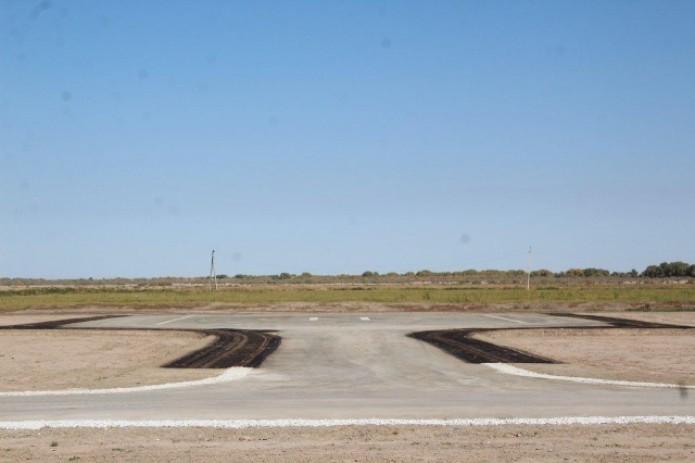В Муйнаке построили новую вертолетную площадку