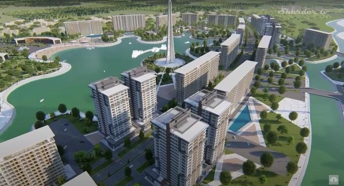 На озере «Бахт» в Ташкенте строят Lake City