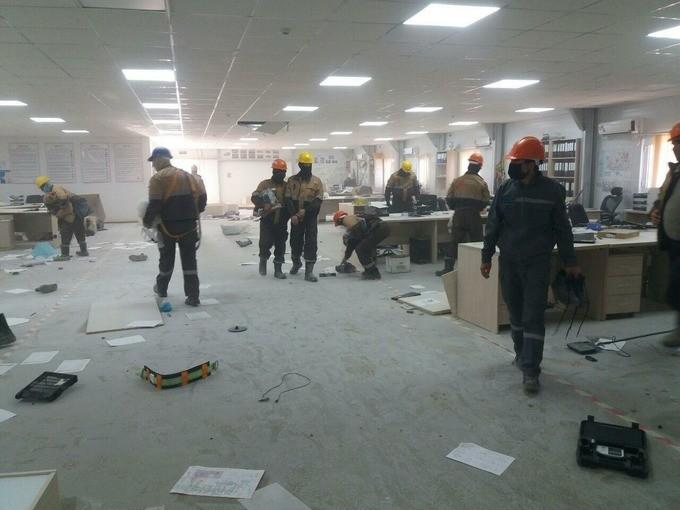 В Кашкадарьинской области рабочие завода GTL устроили погром