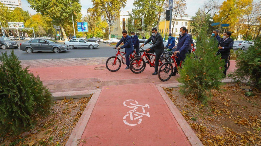 Бу йил Тошкентда 20 км велосипед йўли барпо этилади