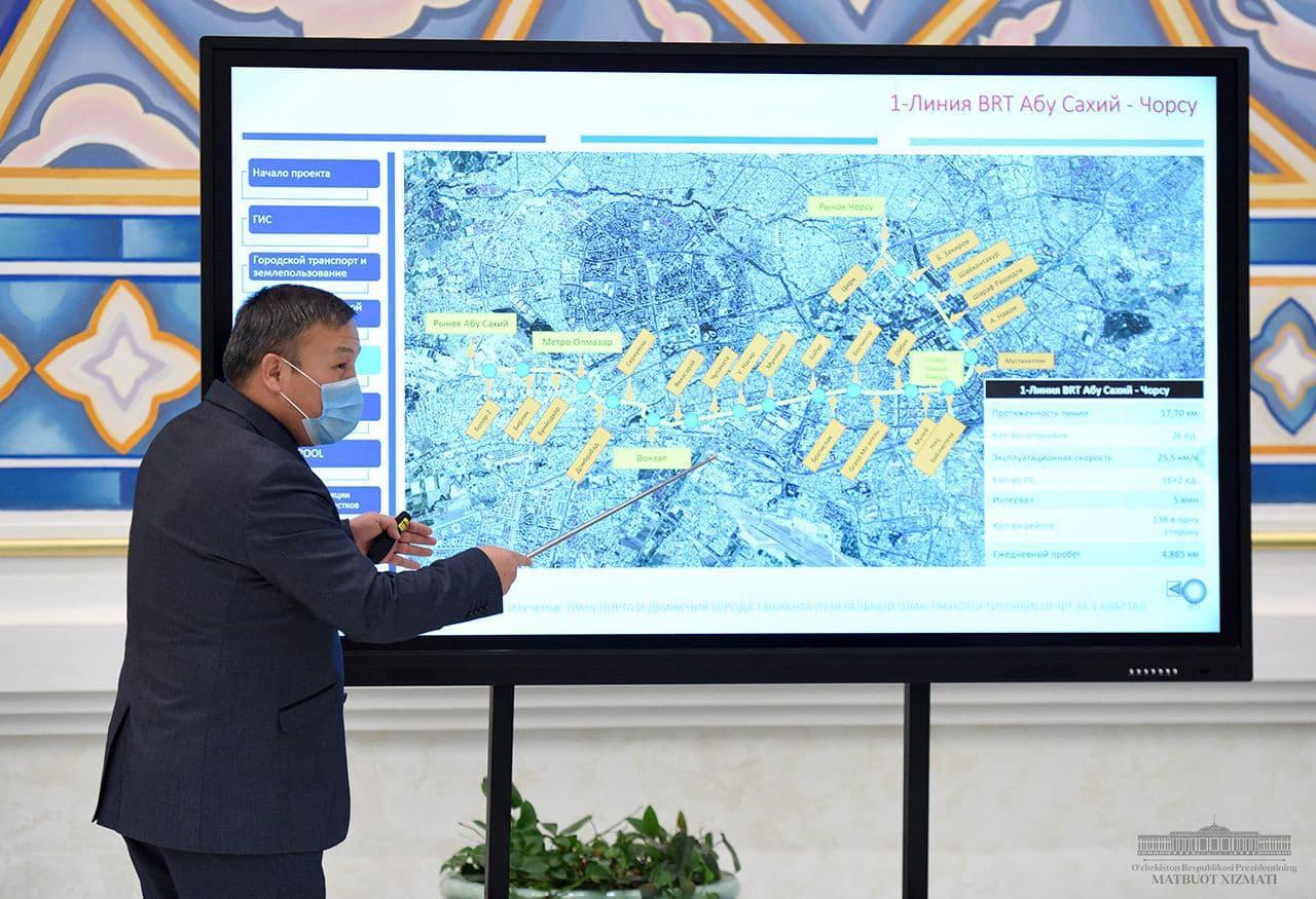 Президент поручил установить в Ташкенте паркоматы на центральных улицах