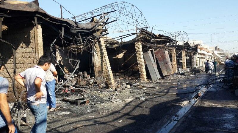 Пожар на «Чинни бозор» в Ташкенте (фото)