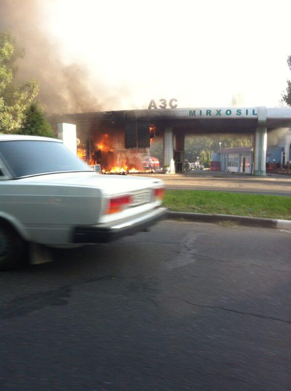 Пожар на АЗС (фото)