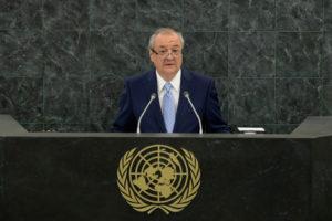 Глава МИД А.Камилов отправляется на дебаты в ООН