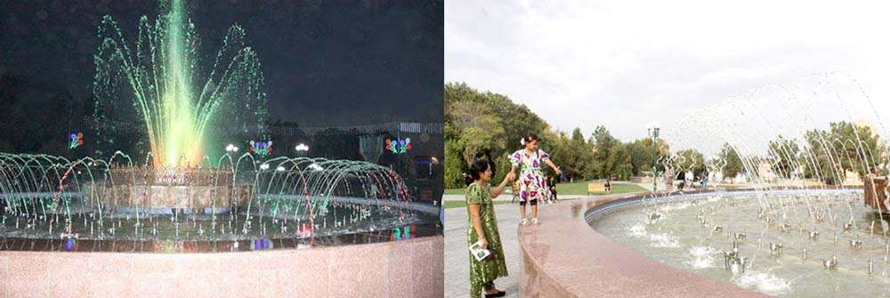 Звуки и краски нового фонтана в Самарканде