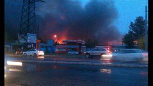 В Ташкенте сгорел аптечный склад