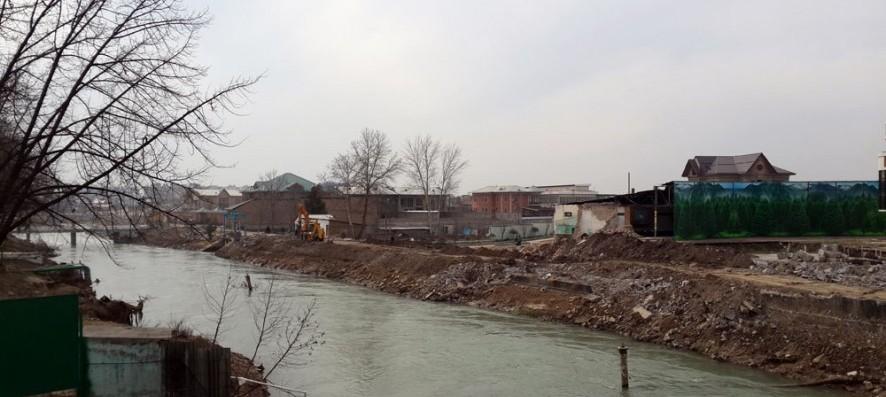 В Ташкенте началось строительство новой набережной Анхора (фото)