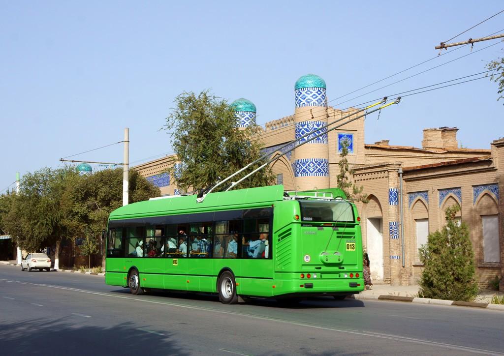 До декабря 2014 года в Ургенче построят новую троллейбусную линию