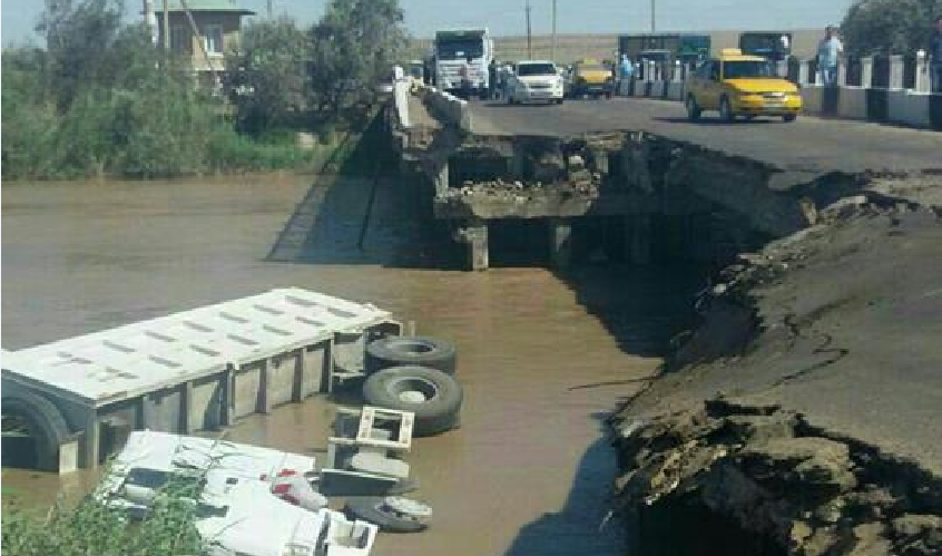 Рухнул пролёт моста через Аму-Бухарский канал